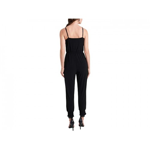 1.STATE Spaghetti Strap Jumpsuit with Smocked Ankles Rich Black WMIMMWR